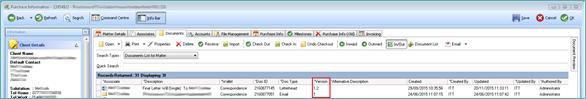 Version column on documents tab blog
